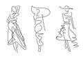 Sketch fashion poses hand draw Royalty Free Stock Image