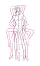 Sketch fashion poses hand draw Royalty Free Stock Photos