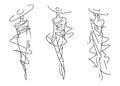 Sketch fashion poses hand drawing Royalty Free Stock Images