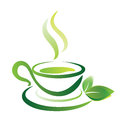 Sketch of green tea cup icon isolated Royalty Free Stock Image