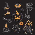 Sketch Halloween Illustration Royalty Free Stock Photography