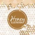 Sketch honey illustration
