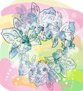 Sketch illustration of flowers Royalty Free Stock Photos