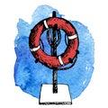 Sketch of life buoy