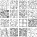 Sketch linear seamless patterns set