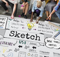 Sketch Notes Creative Drawing Design Graphic Concept Royalty Free Stock Photo