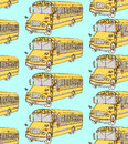 Sketch school bus in vintage style Royalty Free Stock Photo