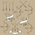 Sketch set of arrows