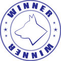 Sketch of stamp for certificate of canine club Stock Photos