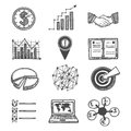 Sketch strategy and management icons