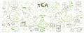 Sketch Traditional Tea Elements Set
