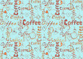 Sketch turquoise coffee background