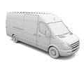 Sketch white van isolated render on a background Royalty Free Stock Photo