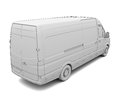 Sketch white van isolated render on a background Stock Photography