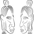 Sketches of indians vector illustration Royalty Free Stock Image