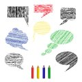 Sketches a set of pencil icons comments vector illustration Stock Images