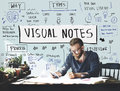 Sketching Visual Notes Design Handwriting Ideas Concept Royalty Free Stock Photo