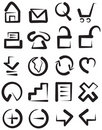 Sketchy childish web icons Stock Photography