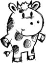 Sketchy Cow Vector Illustration Royalty Free Stock Photo
