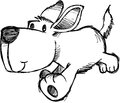 Sketchy Dog Vector Illustration Royalty Free Stock Photo