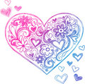 Sketchy Doodle Heart Illustration Royalty Free Stock Images
