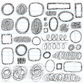 Sketchy Doodle Scribble Shapes Vector Design Set Stock Image