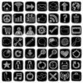 Sketchy Doodle Web Icon Computer Design Elements Royalty Free Stock Photography