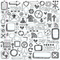 Sketchy Doodle Web Icon Computer Design Elements Stock Image