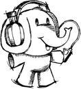Sketchy Elephant vector Royalty Free Stock Photo