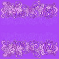 Sketchy Flowers Border Vector Illustration Royalty Free Stock Photo