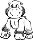 Sketchy Gorilla Vector Illustration Royalty Free Stock Photo