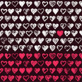 Sketchy hearts pattern Royalty Free Stock Photos