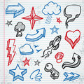 Sketchy icons Royalty Free Stock Image