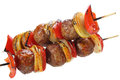 Skewers made of minced meat Royalty Free Stock Photo