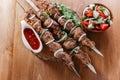 Skewers shashlik kebab Royalty Free Stock Photo