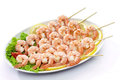 Skewers of shrimps Royalty Free Stock Image