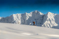 Ski alpinism in the italian mountain Royalty Free Stock Photos