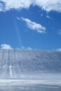 Ski area and blue sky Royalty Free Stock Photos