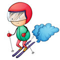 Ski boy Stock Photography
