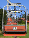 Ski chair lift Royalty Free Stock Photos