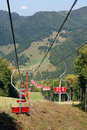 Ski chair lift for ski trace Royalty Free Stock Photography