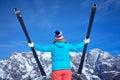 Ski de winter sneeuw skiërs zon en pret Royalty-vrije Stock Afbeelding