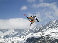 Ski freestyle fis junior world championships in chiesa valmalenco italy april slopestyle Royalty Free Stock Photos