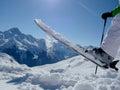 Ski Fun On A Mountain Top