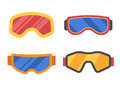 Ski Goggles Icon Set