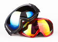 Ski goggles on the white background Royalty Free Stock Photo