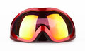 Ski goggles on the white background Stock Photography