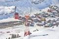 Ski gondola cable car in Lech - Zurs ski resort in Austria Royalty Free Stock Photo