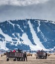 Ski hill in wyoming Royalty Free Stock Image