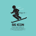 Ski icon vector illustration Stock Images